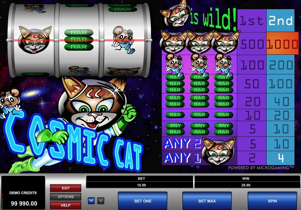 Cosmic Cat Slot Game Online