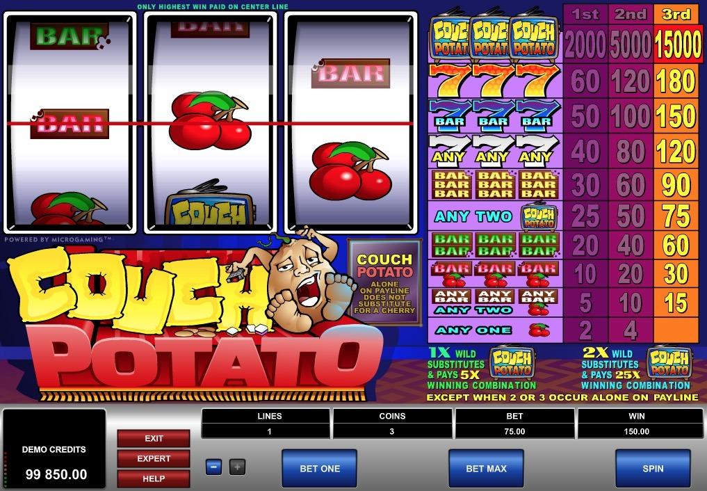 Couch Potato Slot Machine Online