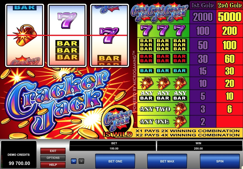 Cracker Jack Slot Machine Online
