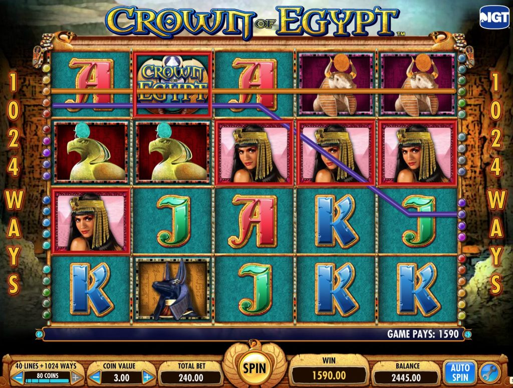 Crown of Egypt Slot Machine Review