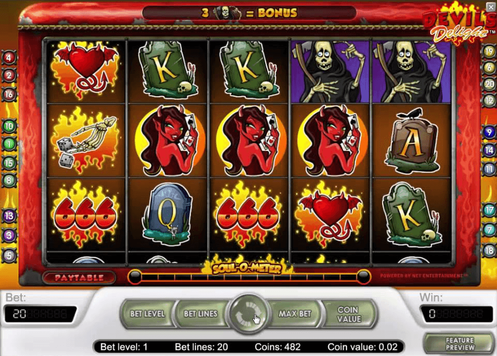 Devil's Delight Slot Machine Game