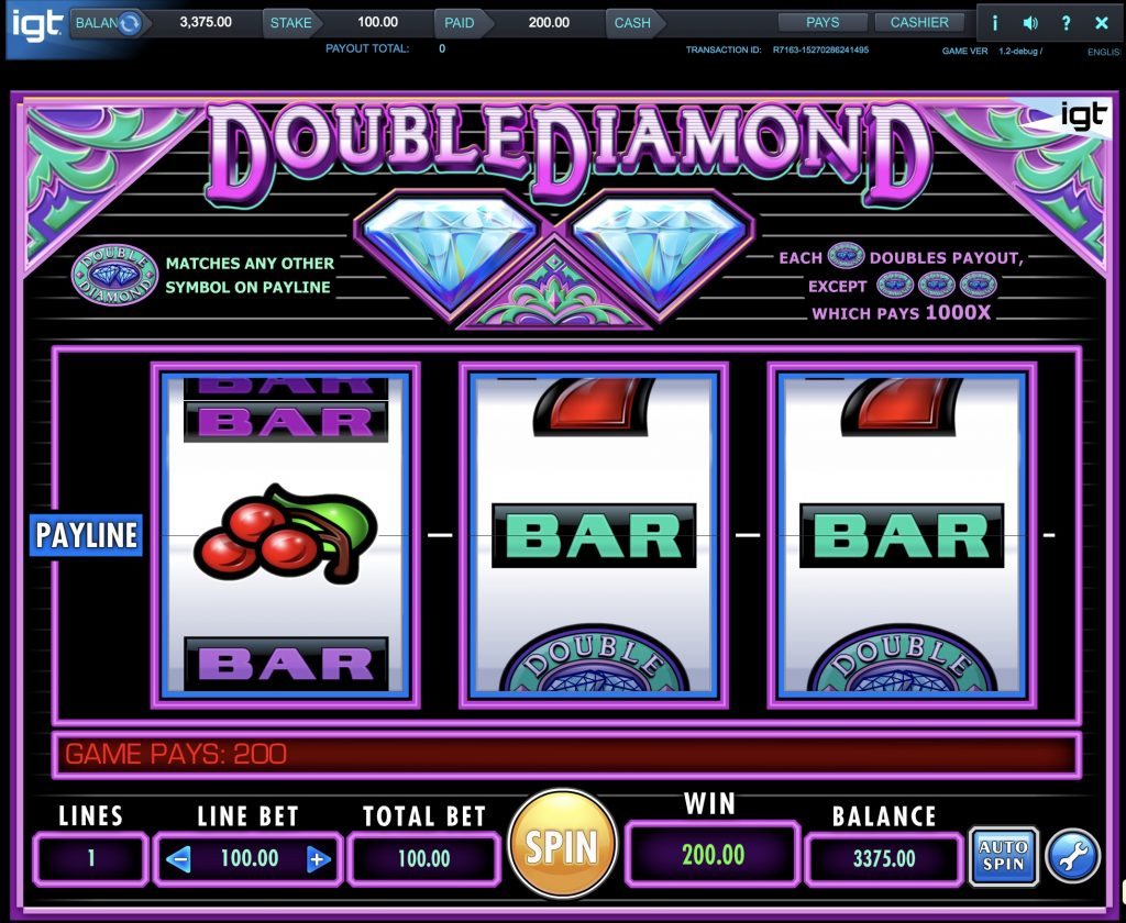 Double Diamond Slot Machine Review