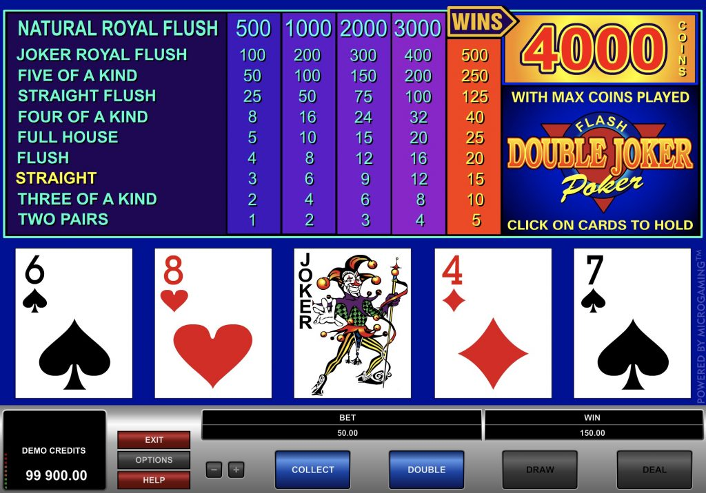 Double Joker Poker Game Online