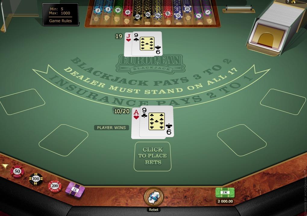 European Blackjack Gold Online