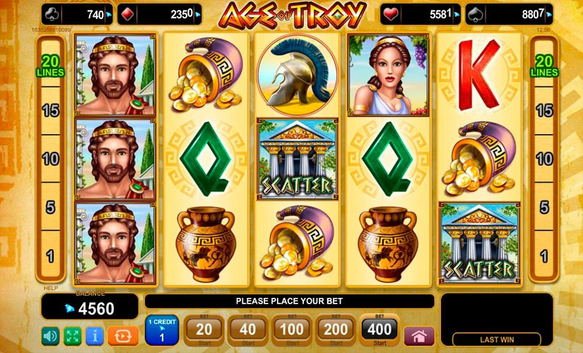Age of Troy Slot Machine Review