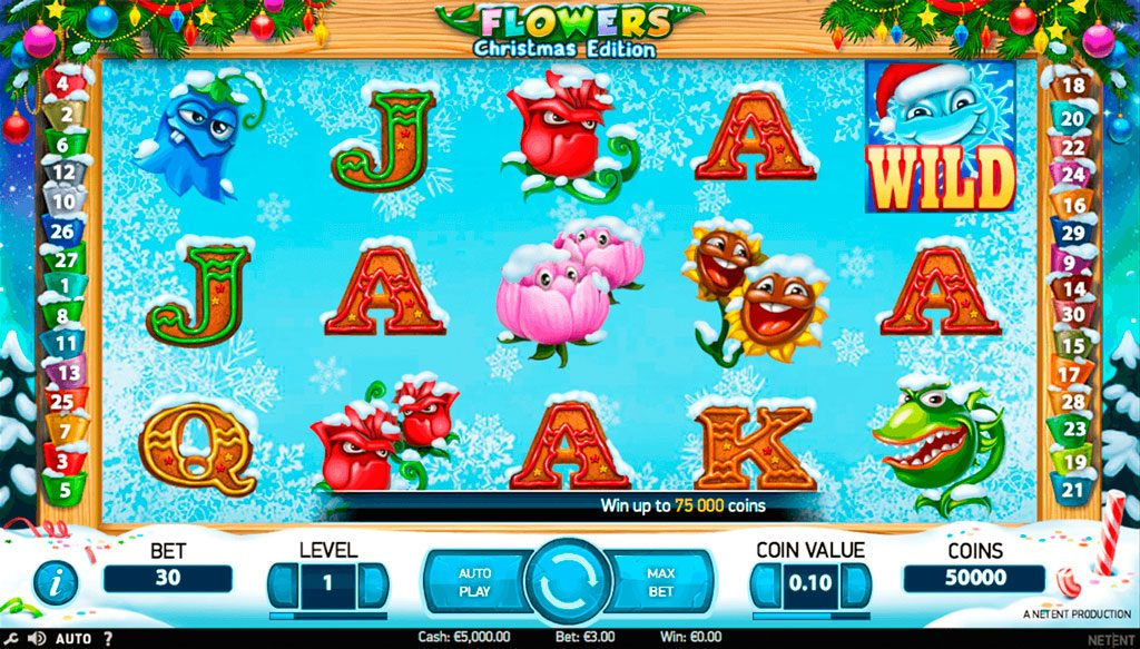 Flowers Christmas Edition Slot Machine Review