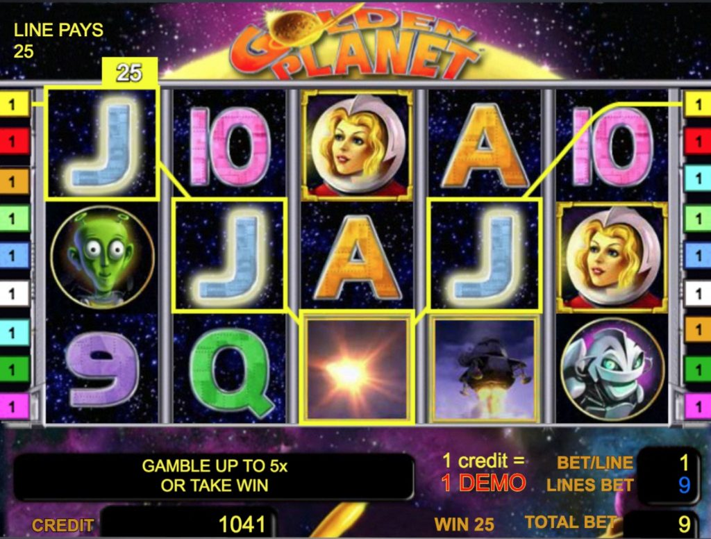 Golden Planet Slot Game Online