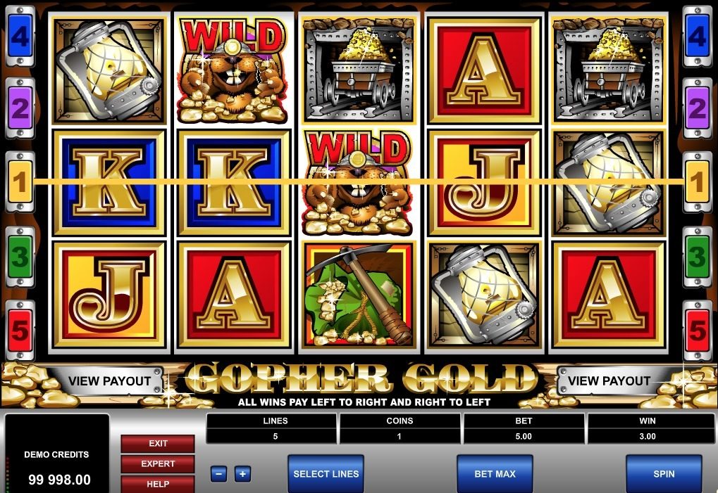 Gopher Gold Slot Game Online