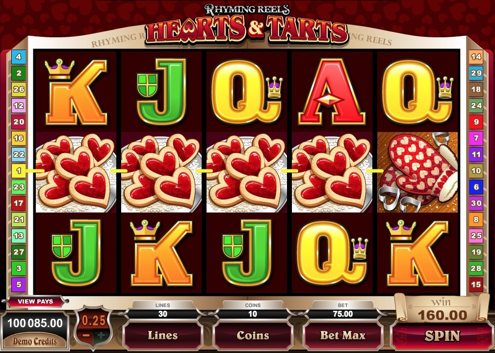 Hearts and Tarts Slot Machine Online