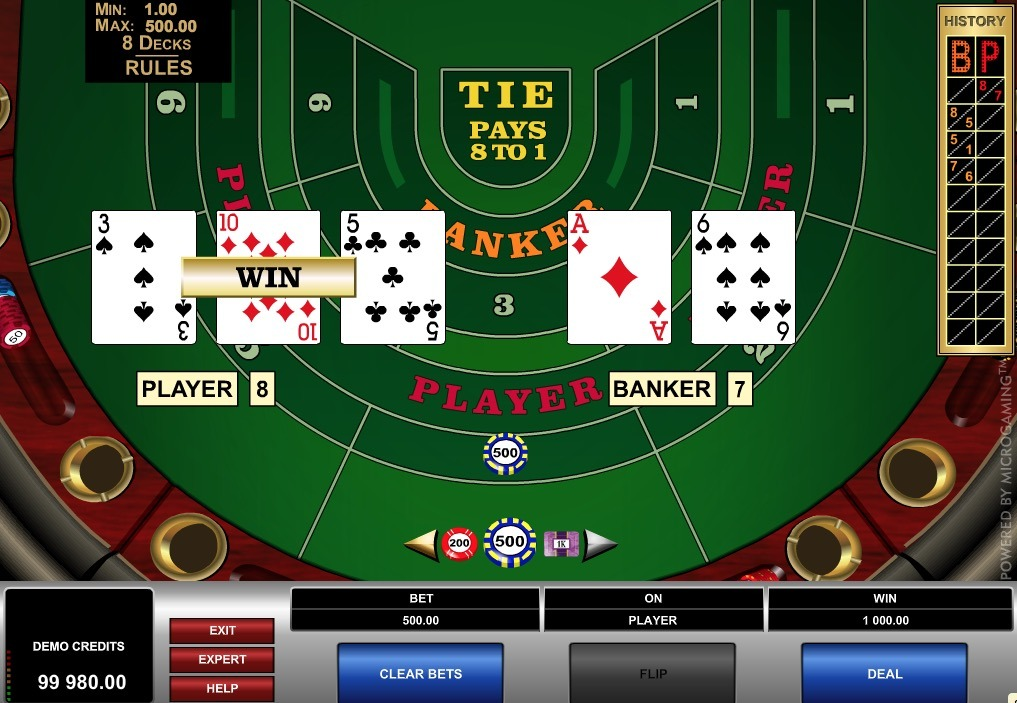 High Limit Baccarat Online