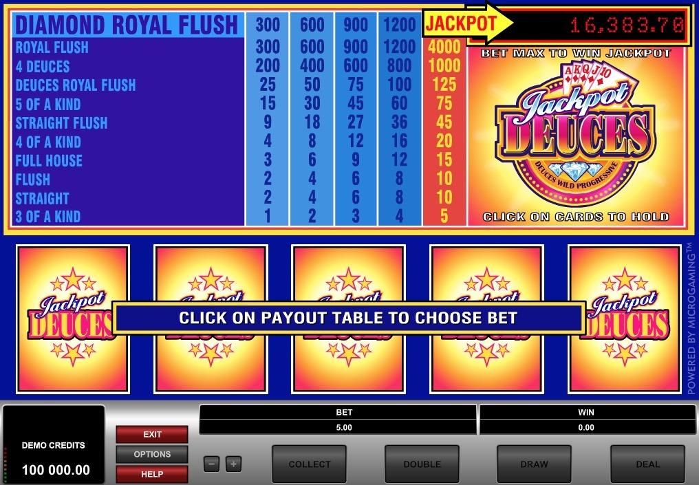 Jackpot Deuces Online