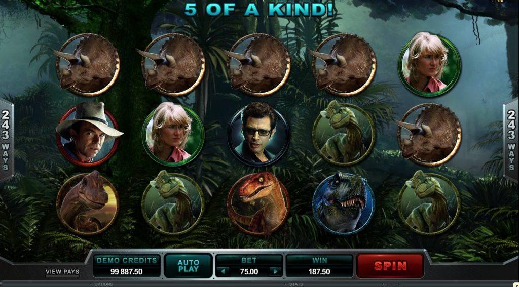 Jurassic Park Slot Machine Review