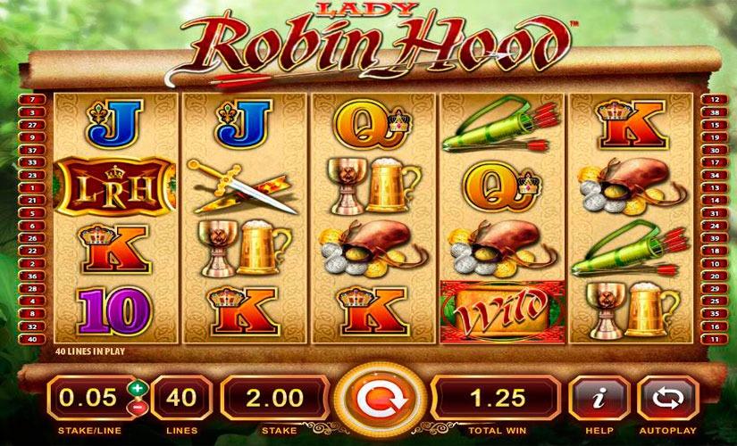 Lady Robin Hood Slot Machine