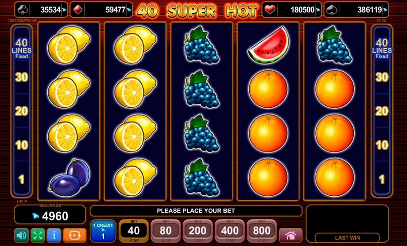 40 Super Hot Slot Machine Review