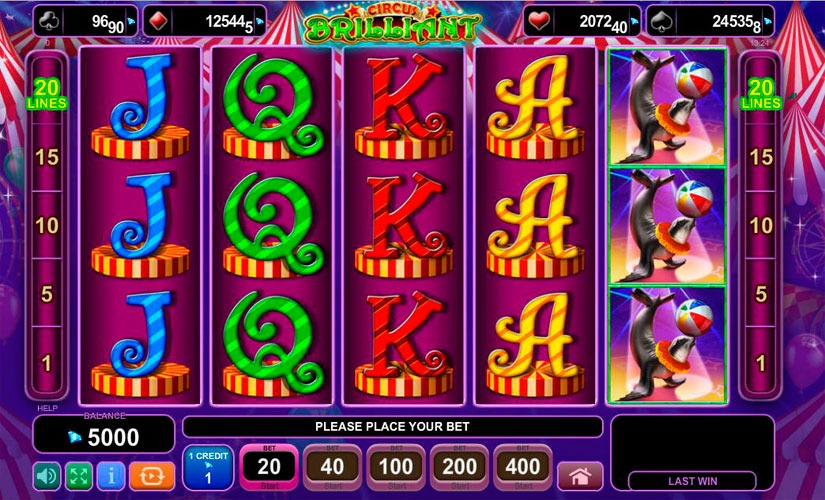 Circus Brilliant Slot Machine Review