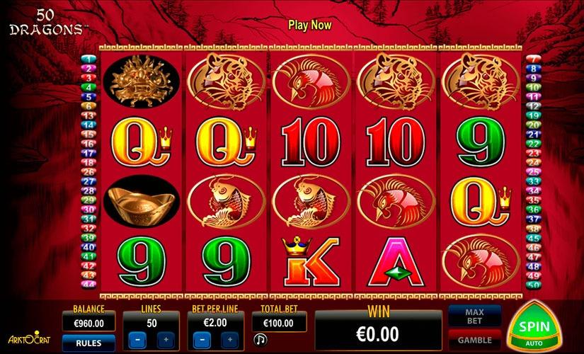 50 Dragons Slot Machine Online
