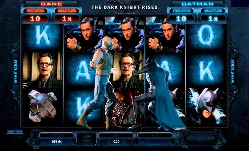 The Dark Knight Rises Slot Machine by Microgaming