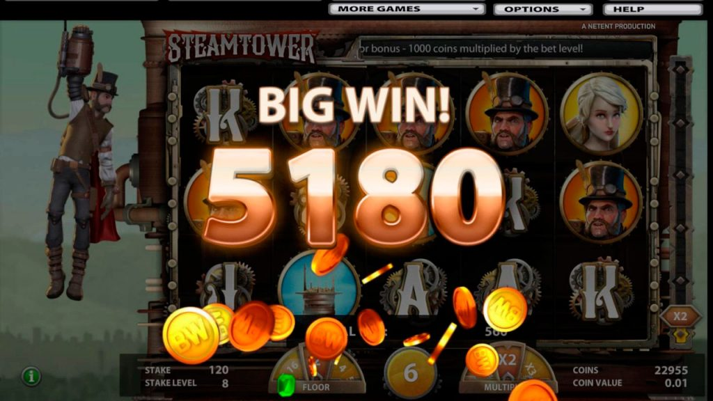 Steam Tower Slot Machine Reviews