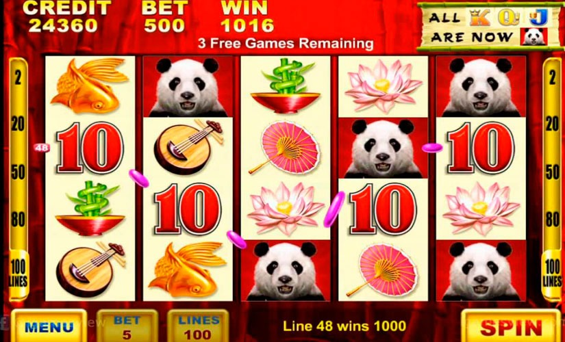 Wild Panda Slot Machine Online