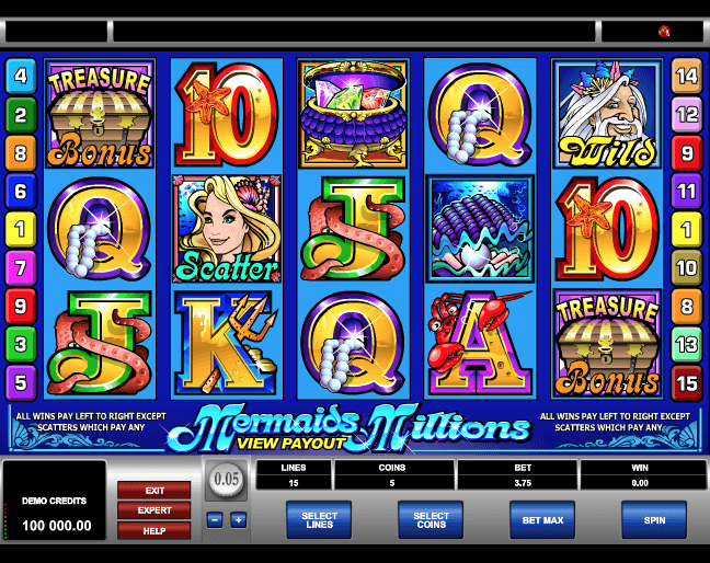 Mermaids Millions Slot Machine Online