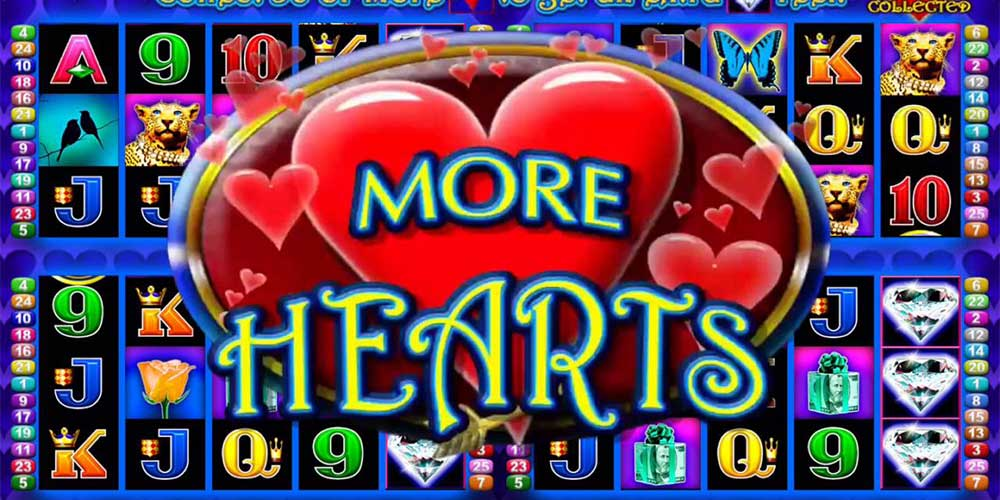 More Hearts Play Free or Real Money Slot Machine