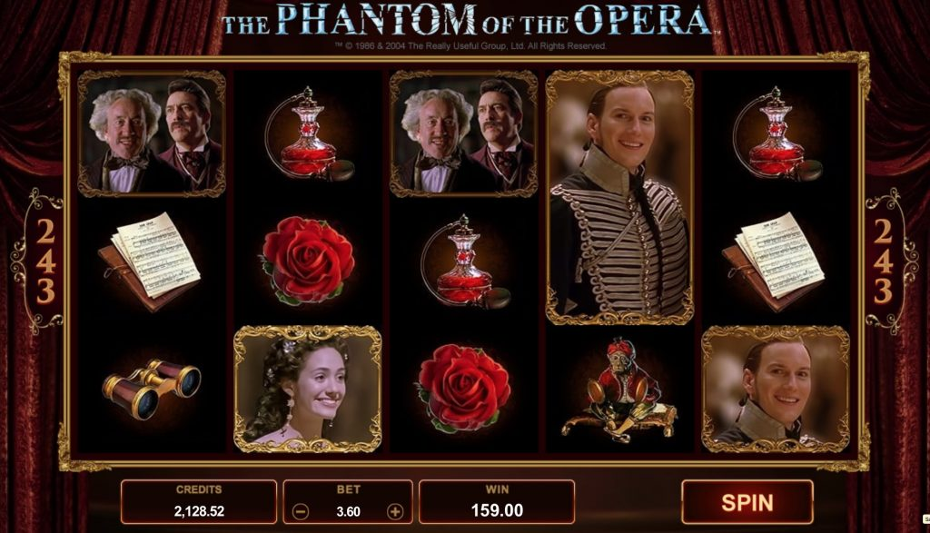 Phantom of the Opera Slot Machine Microgaming