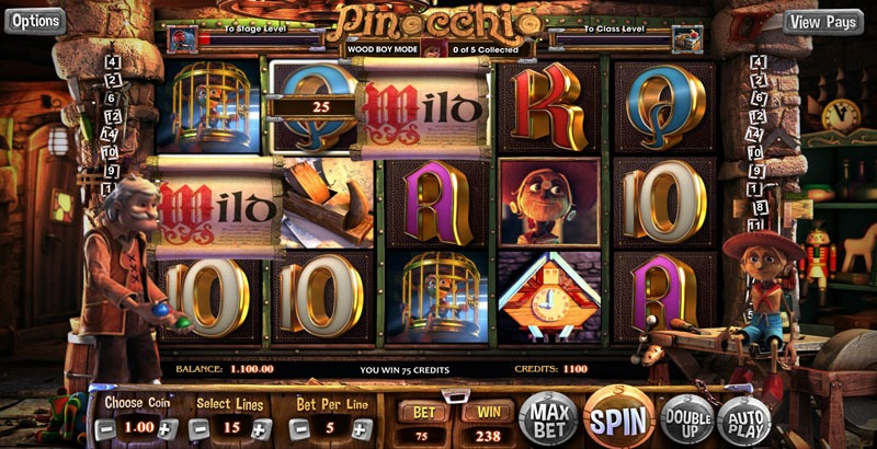 Pinocchio Slot Machine Review