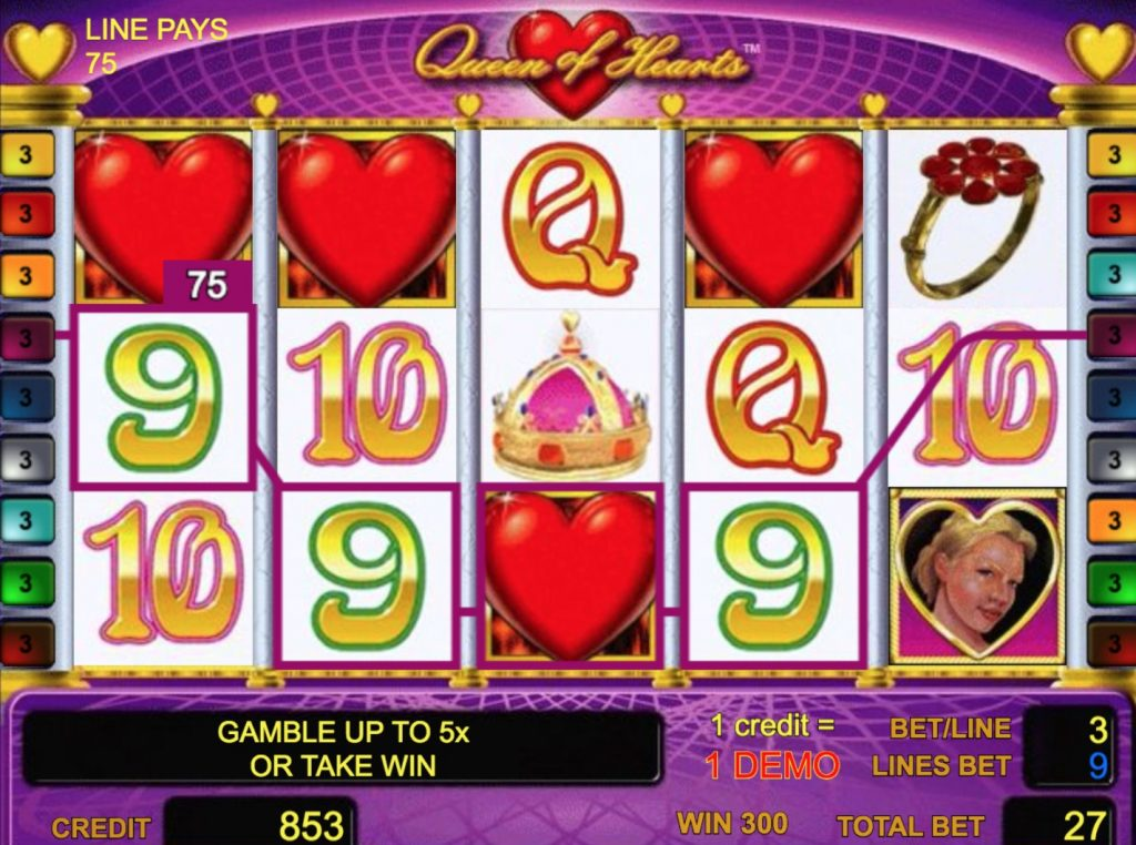 Queen of Hearts Slot Machine Review