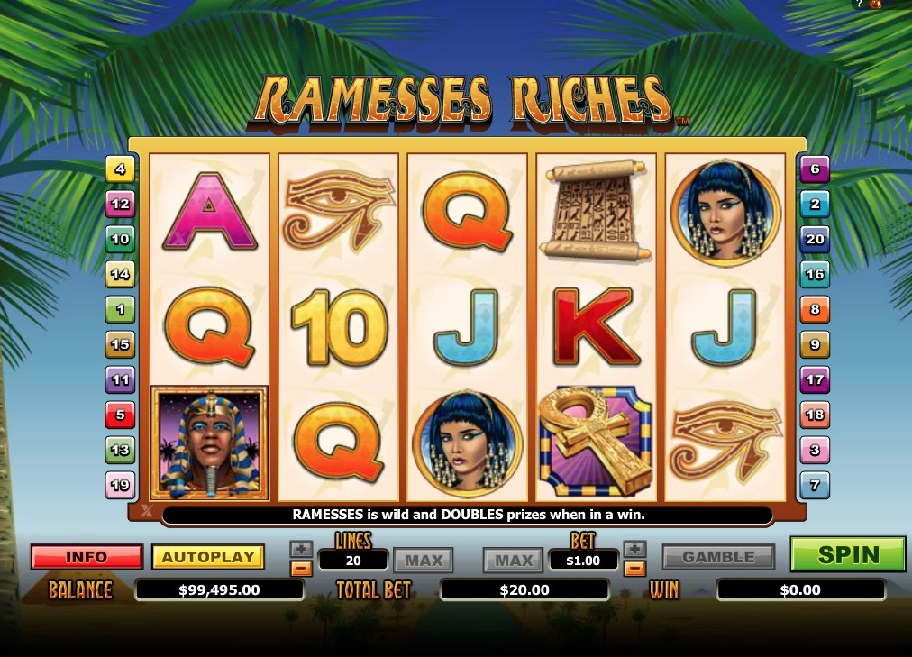 Ramesses Riches Slot Game Online