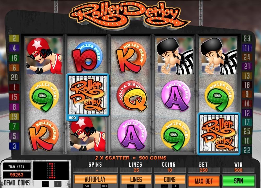 Roller Derby Slot Machine Online