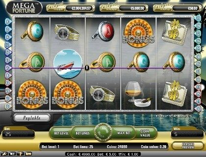 mega fortune online slot machine