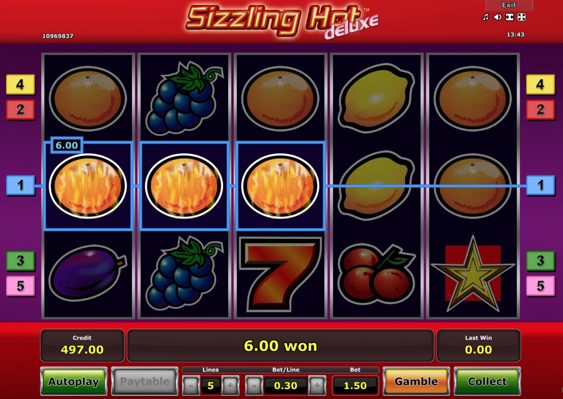 Sizzling Hot Deluxe Download Mobile