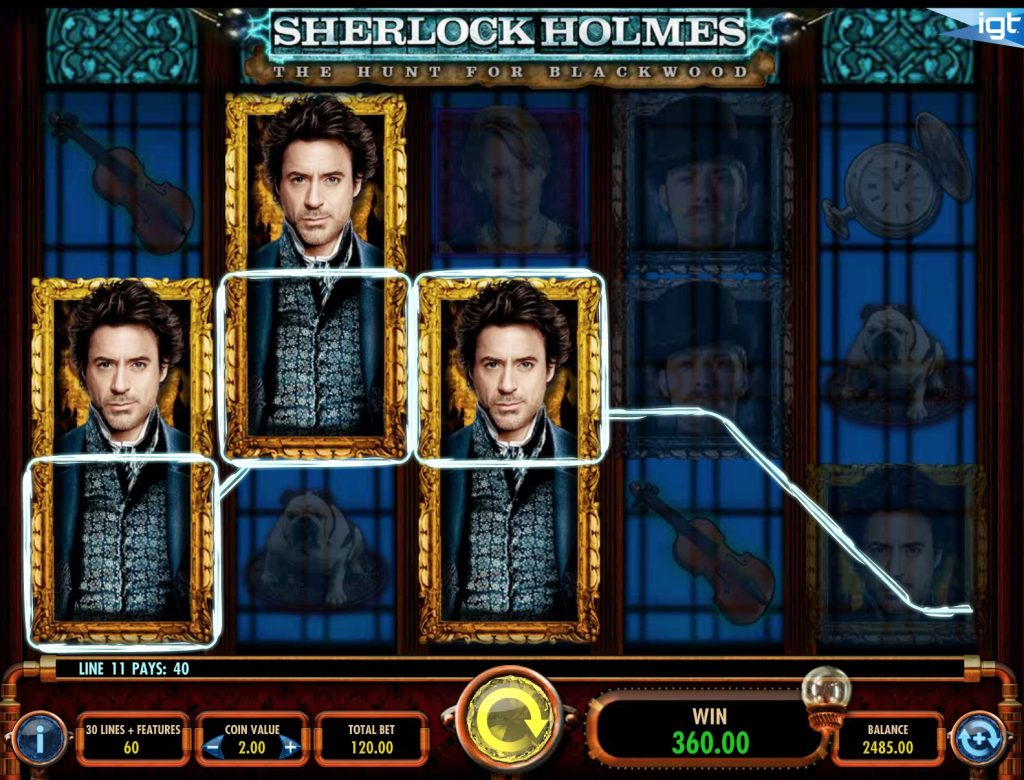 Sherlock Holmes The Hunt For Blackwood Slot Machine Review