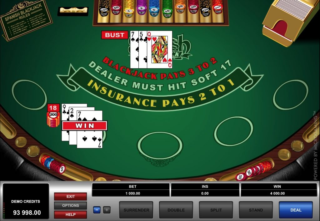 Spanish Blackjack Online