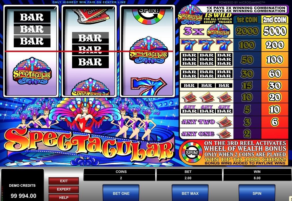 Spectacular Slot Game Online