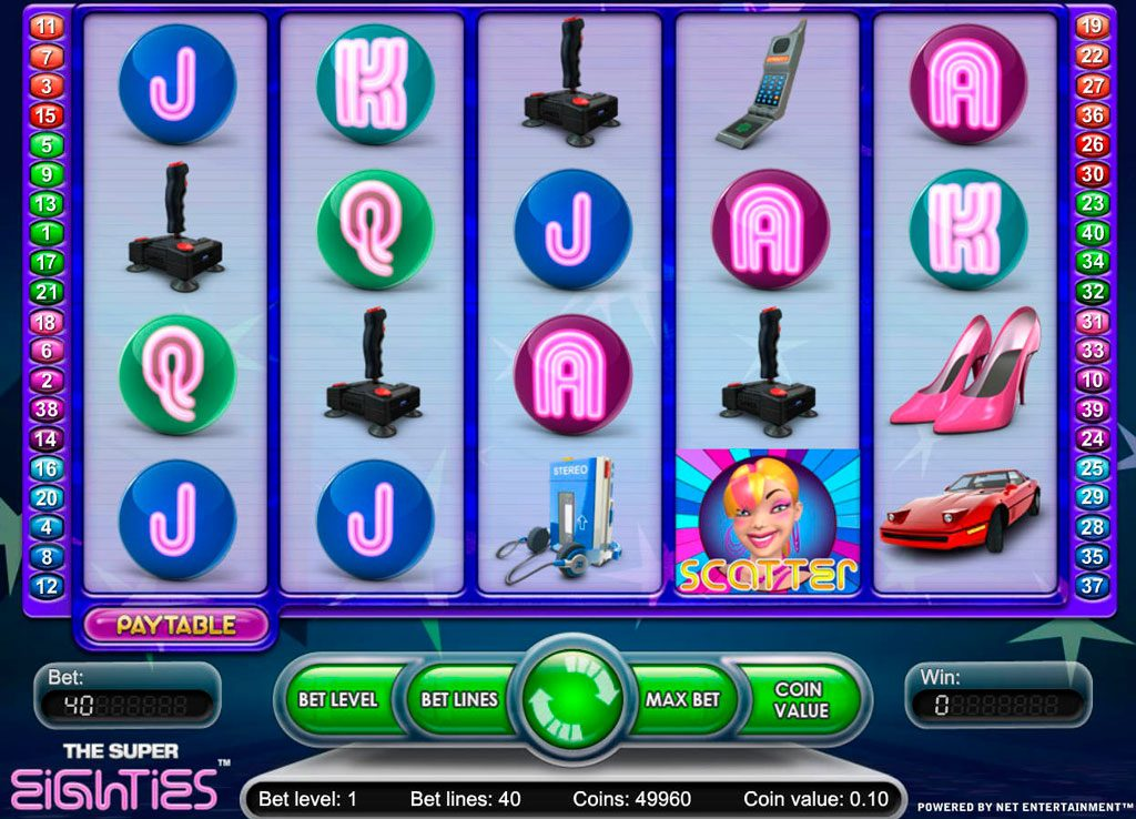 The Super Eighties Slot Machine Reviews