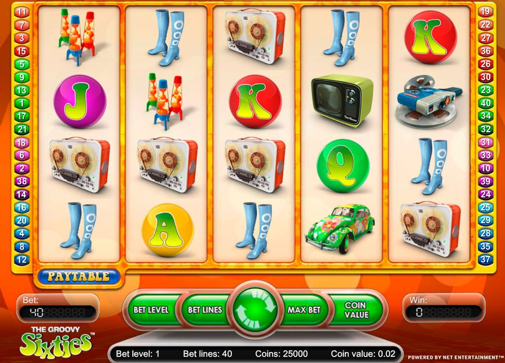 The Groovy Sixties Slot Machine Reviews