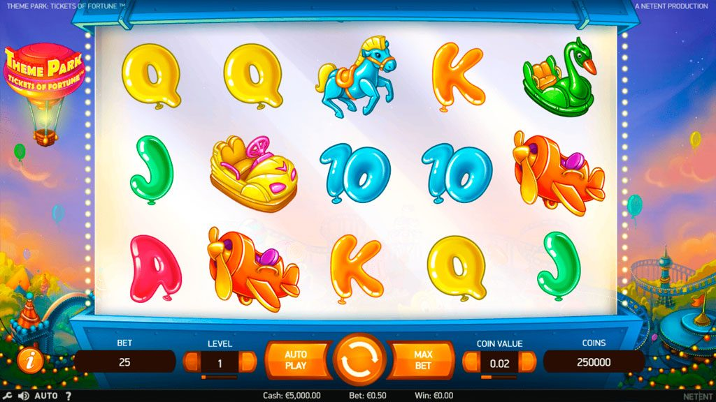 Theme Park Tickets of Fortune Slot Machine Reviews