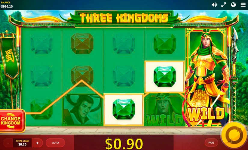 Three Kingdoms Slot Machine Online