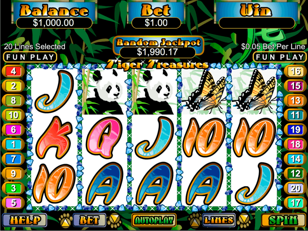Tiger Treasures Slot Machine Online