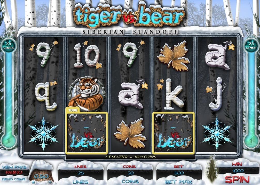 Tiger Vs Bear Slot Machine Online