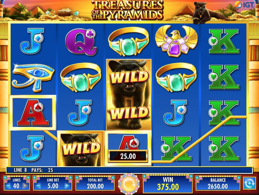 Treasures of the Pyramids Slot Machine Review