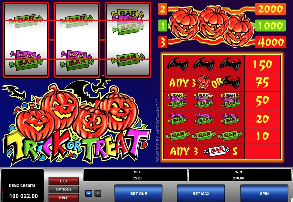 Free Trick Or Treat Slot Machine Online
