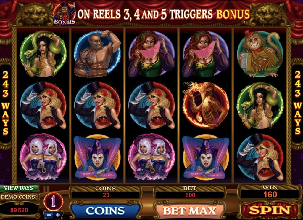 The Twisted Circus Slot Machine Online