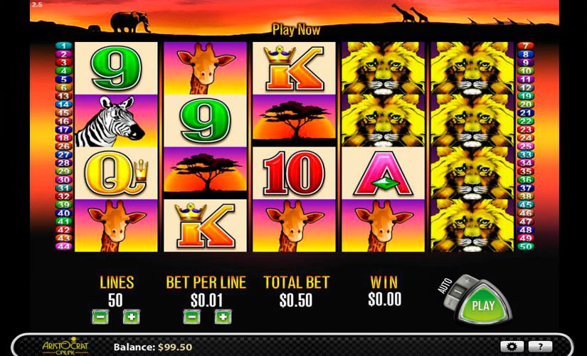 50 Lions Slot Machine Online