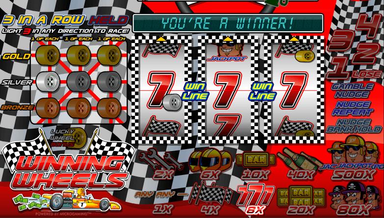 Winning Wheels Slot Machine Online