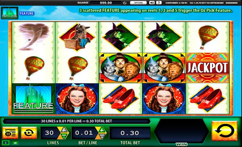 The Wizard of Oz Ruby Slippers Slot Machine Online