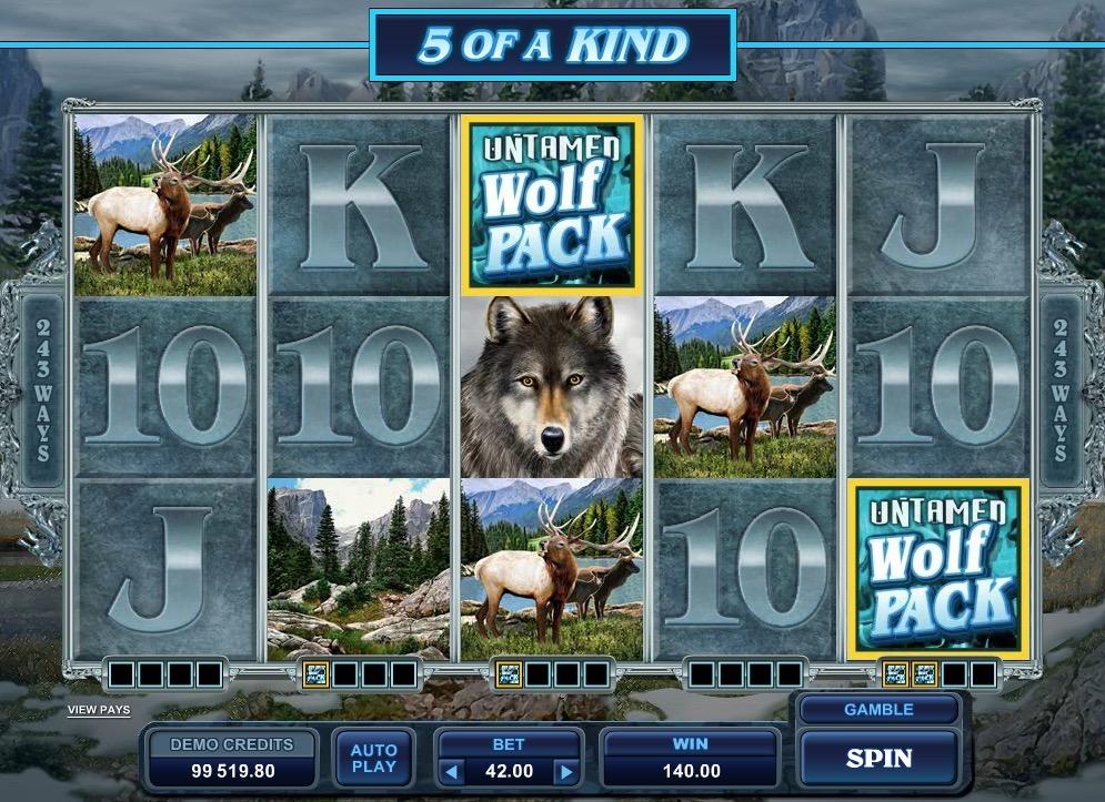 Untamed Wolf Pack Slot Game Online