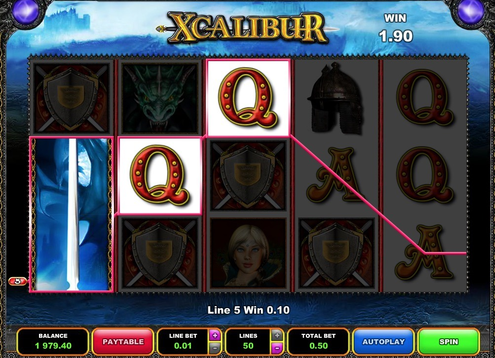 Xcalibur Slot Machine Review