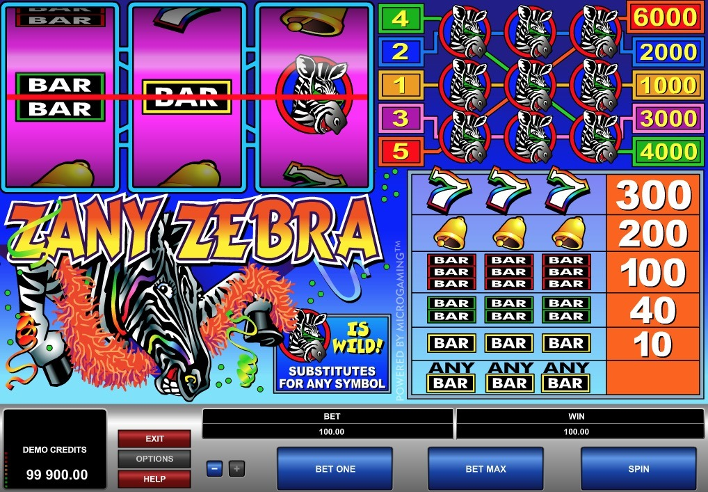 Zany Zebra Slot Game Online